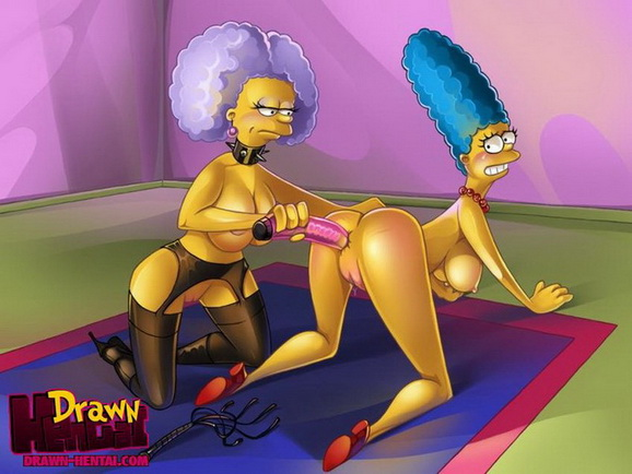 Marge Simpson with sextoy