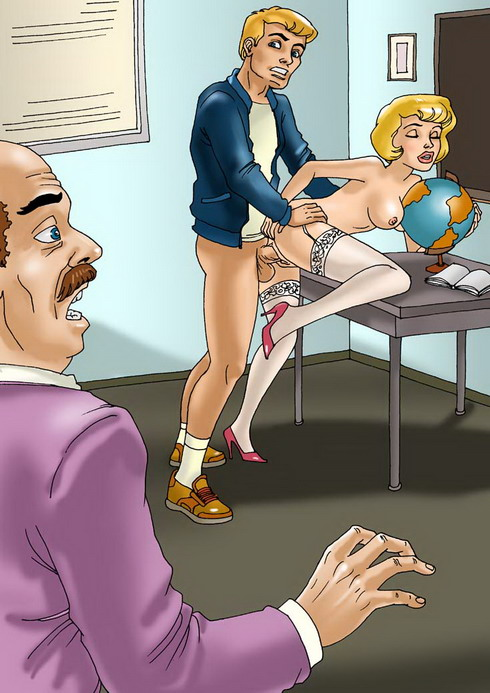 Sex Party in school - xxx comix - Adult Cartoons Adult Comics